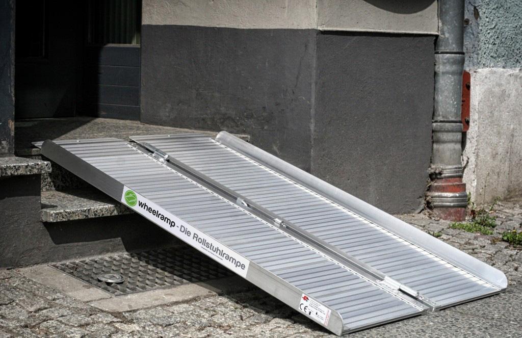 Wheelramp 1 2 m die rollstuhlrampe - Rampe bauen fur rollstuhl ...